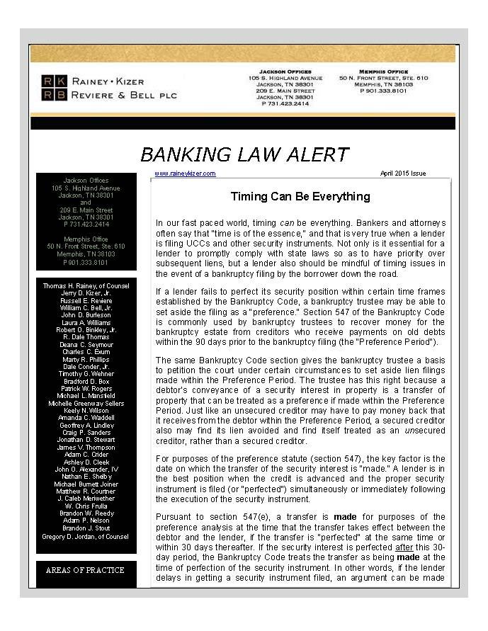 BANKING LAW ALERT - April 2015_Page_1