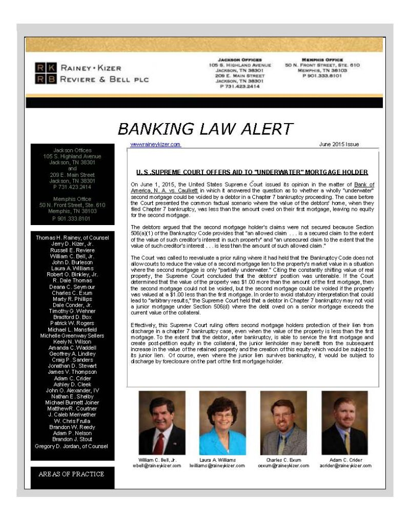 BANKING LAW ALERT - June 2015_Page_1